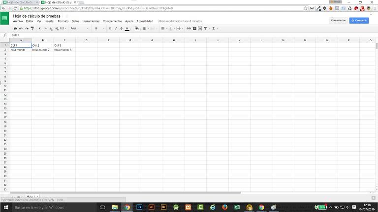 Hoja e calculo sencilla, un excel perfecto para wordpress