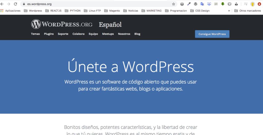 Portada para crear sitios web alucinantes con WordPress