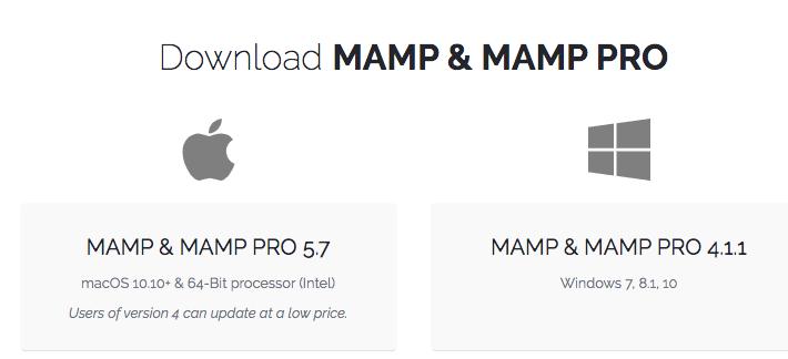 descarga previa de mamp para mac o windows