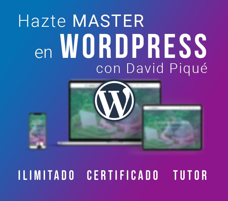 Master WordPress online portada del curso