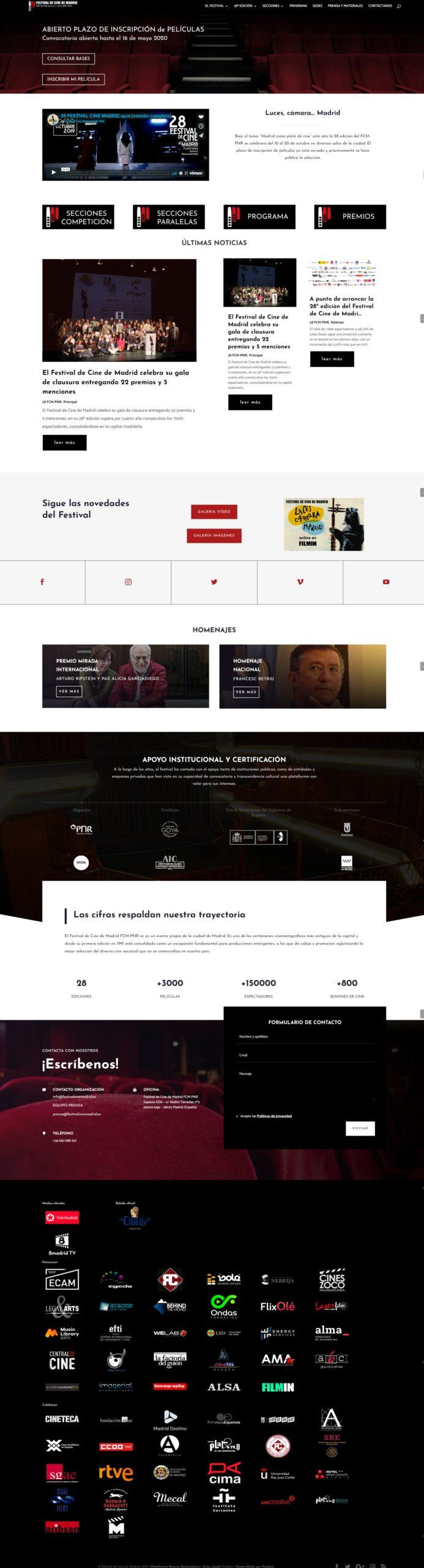 Nueva web festival de cine de Madrid